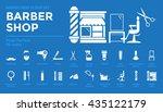 icons set of barber shop pixel...