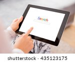 person searching the internet... | Shutterstock . vector #435123175