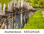 old wooden fences in the... | Shutterstock . vector #435124165