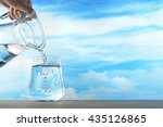 fresh and clean drinking water... | Shutterstock . vector #435126865