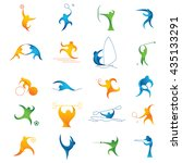 sport colorful icon set