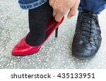 men  women and their families... | Shutterstock . vector #435133951