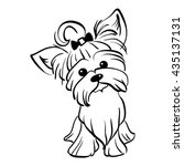 Sketch Funny Dog Yorkshire...