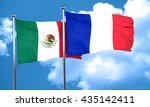 mexico flag with france flag ... | Shutterstock . vector #435142411