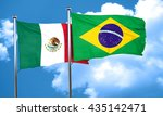 mexico flag with brazil flag ... | Shutterstock . vector #435142471