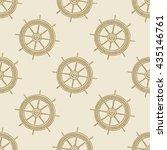 helm vintage pattern sea naval...   Shutterstock . vector #435146761