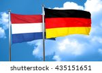 netherlands flag with germany... | Shutterstock . vector #435151651