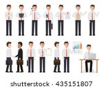 set of working people on white... | Shutterstock .eps vector #435151807