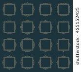 vintage frame set. vector page... | Shutterstock .eps vector #435152425