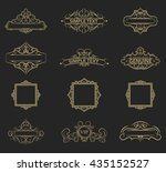 wicker lines and old decor... | Shutterstock .eps vector #435152527