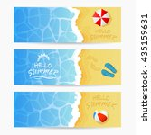 beach theme  set of cards ... | Shutterstock .eps vector #435159631