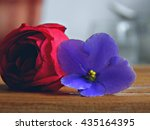 Wooden Background. Flowers....