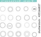 set round style element   stock ... | Shutterstock .eps vector #435166837