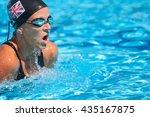 british butterfly stroke... | Shutterstock . vector #435167875
