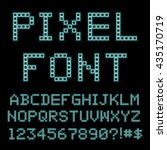 retro computer font. old pc... | Shutterstock .eps vector #435170719