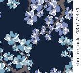 floral pattern.seamless vector... | Shutterstock .eps vector #435172471