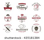 set of bakery labels  icons ... | Shutterstock . vector #435181384