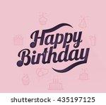 happy birthday | Shutterstock .eps vector #435197125