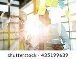 two creative millenial small... | Shutterstock . vector #435199639