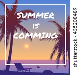 summer is coming sunset... | Shutterstock .eps vector #435208489