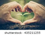 love and protect nature.... | Shutterstock . vector #435211255