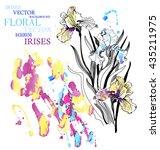 vector  present card. hand... | Shutterstock .eps vector #435211975