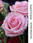 Big Pink Roses As Part Of A...