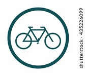 bicycle   bike icon   circle ... | Shutterstock .eps vector #435226099