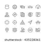 simple set of navigation... | Shutterstock .eps vector #435228361