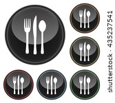 silverware icon with fork knife ... | Shutterstock . vector #435237541