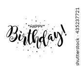 happy birthday. beautiful... | Shutterstock .eps vector #435237721