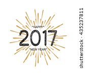 2017 happy new year. beautiful... | Shutterstock .eps vector #435237811