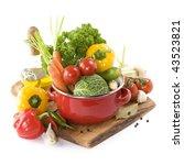 ratatouille or soup vegetables... | Shutterstock . vector #43523821