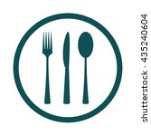 cutlery set fork knife and... | Shutterstock .eps vector #435240604