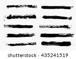 grunge brush strokes vector... | Shutterstock .eps vector #435241519