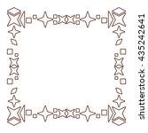 decorative geometric borders or ... | Shutterstock .eps vector #435242641