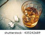 scotch on rock background ...
