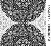 mandala mehndi style. ethnic...   Shutterstock . vector #435249079
