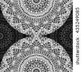 mandala mehndi style. ethnic...   Shutterstock . vector #435249085