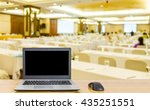 computer on the table  blur... | Shutterstock . vector #435251551