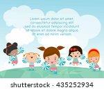 cheerleaders  cheerleader ... | Shutterstock .eps vector #435252934