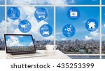 smart city and internet of... | Shutterstock . vector #435253399