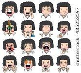 set of cartoon character... | Shutterstock .eps vector #435253597
