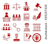 attorney  court  law icon set | Shutterstock .eps vector #435257335