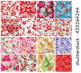 seamless flowers pattern   Shutterstock .eps vector #435264244