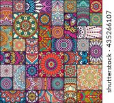 seamless pattern. vintage... | Shutterstock .eps vector #435266107