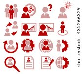 businessman icon set | Shutterstock .eps vector #435266329