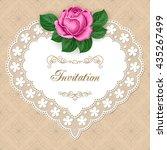 vintage floral invitation...   Shutterstock .eps vector #435267499