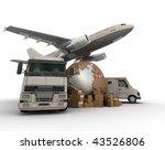 3d rendering of  a world map ... | Shutterstock . vector #43526806