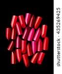 lipsticks cut composed on black ... | Shutterstock . vector #435269425